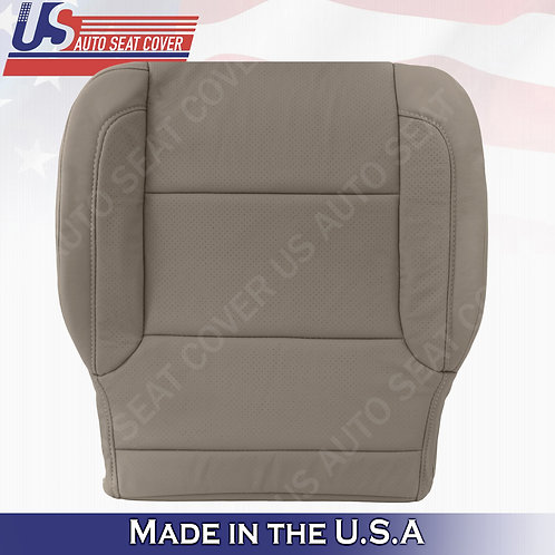 2015 to 2018 Chevy Suburban Driver Bottom Perforated Leather Seat Cover Tan