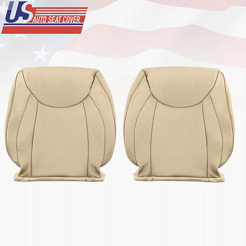 Driver & Passenger top Leather Seat Cover Tan For 2001 - 2006 Lexus LS430