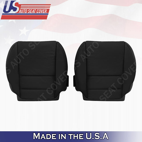 Driver Passenger Bottom Perforated Leather Cover Black For Acura MDX 2007-2012