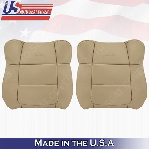 2001-2003 Ford F150 Lariat DRIVER & PASSENGER Top Leather Cover TAN