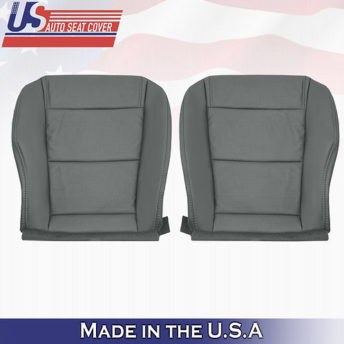 2001-2006 Acura MDX Driver & Passenger Bottom Perforated Leather Seat Cover GRAY