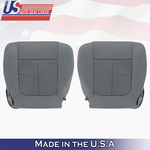 2009-2010 Ford F150 DRIVER PASSENGER Bottom Cloth Seat cover in Med Stone Gray