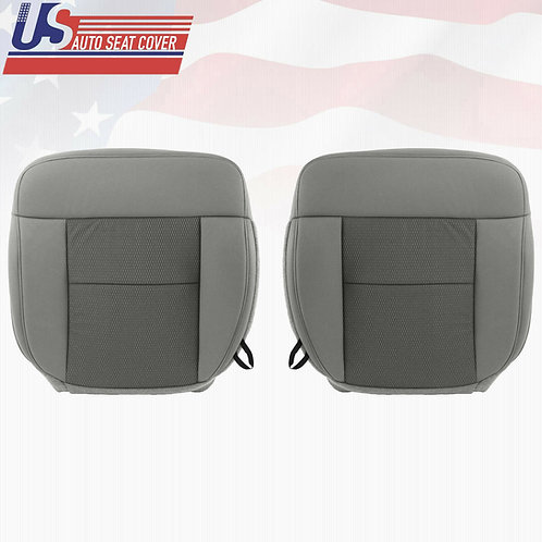 2004 -2006 Ford F150 Driver & Passenger Bottom Replacement Cloth Seat Cover Gray