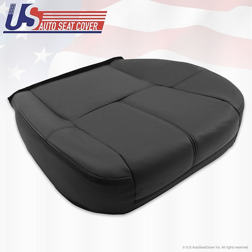 2007 - 13 Chevy Avalanche 1500 2500 HD Driver Bottom Leather Seat Cover Black