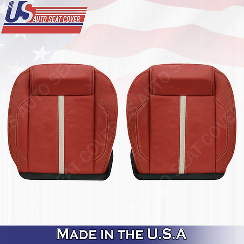 2010-2014 Ford Mustang Gt Driver & Passenger Bottom Leather Seat cover Brick Red