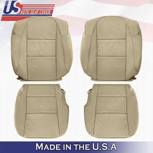 Full Front Set for Acura 2013-2018 Perforated leather Seat cover in Tan