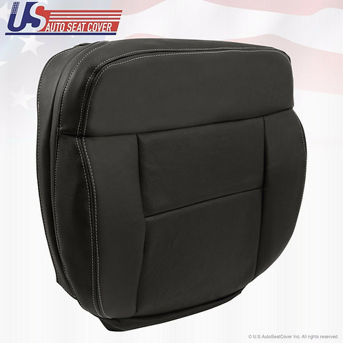 2004-2008 Ford F150 Lariat Driver Bottom Perforated Leather Seat Cover Black