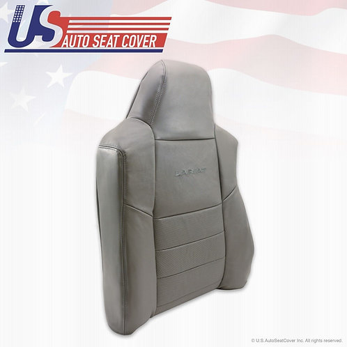 2002-2007 Ford F250 F350 Driver Top Lean Back perforated Leather Seat Cover Gray