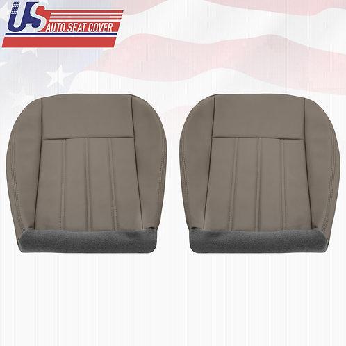 For 2005-2010 Chrysler 200 300 Driver & Passenger Bottom Seat Cover Gray