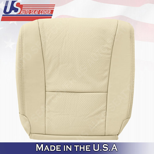 For 2007 to 2012 Lexus LS460 Driver Bottom Perforated Leather Seat Cover Tan