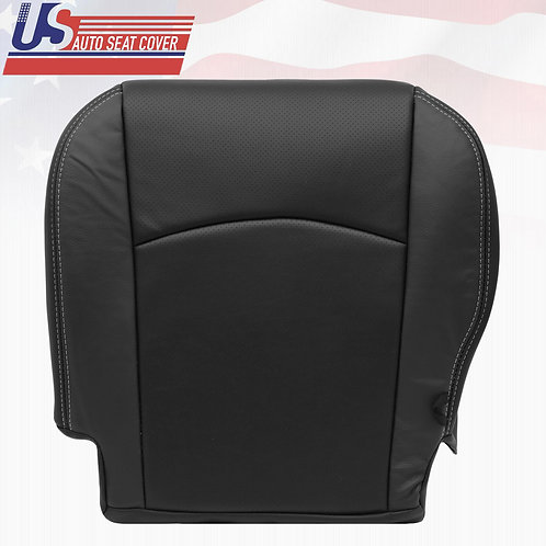 2009-2012 DODGE RAM LARAMIE PASSENGER BOTTOM LEATHER PERFORATED SEAT COVER BLACK