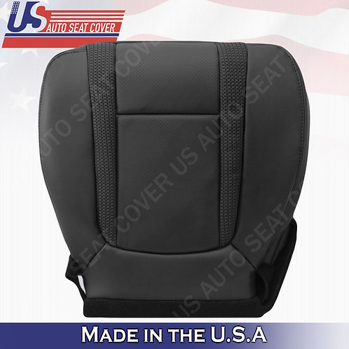 2010-2014 Ford F150 Raptor Driver Bottom Perforated Leather Seat Cover Black