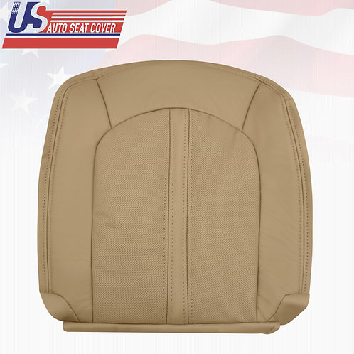 2008-2013 Cadillac CTS Driver Bottom Leather Seat Cover in Tan (PERFORATED)