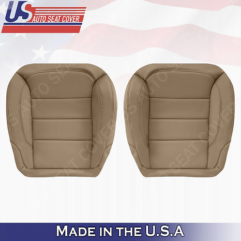 Fits 2012 to 2015 ML250 ML350 ML400 Front Bottoms Leather Seat Cover Tan