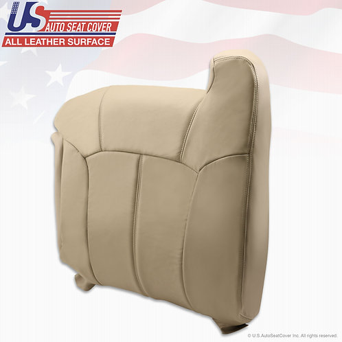 1999 - 2002 Tahoe Suburban Passenger Top Replacement Leather Seat Cover Shale