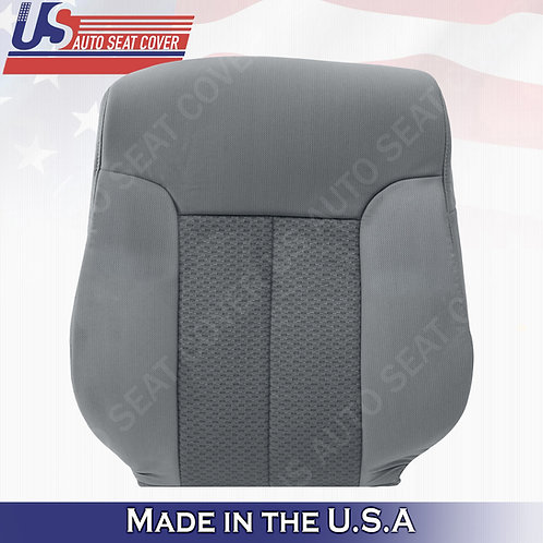 For 2011-2014 Ford F150 Driver Side Top Cloth Seat Cover Steel Gray
