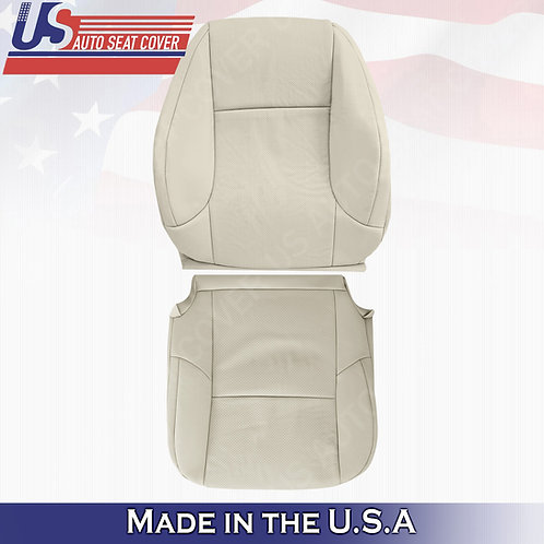 For 2010-2017 Lexus GX460 Passenger Top/Bottom Perf. Leather Cover Light Tan
