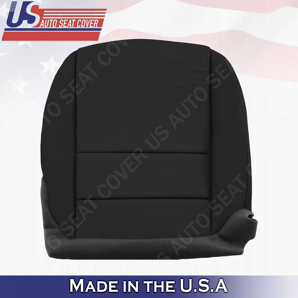 Passenger Bottom Perforated Leather Seat Cover Black For