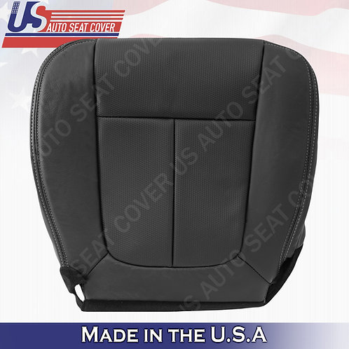2009-2014 Ford F150 Driver Bottom TEXTURE Leather seat Cover Black
