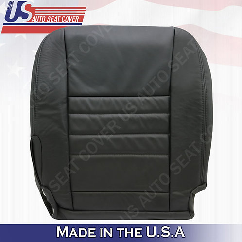 2011 - 2018 Dodge Charger Passenger Bottom Leather Seat Cover black