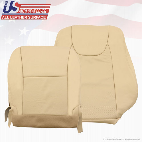 For 2010-2013 Lexus Rx350 Passenger top/bottom Perf. light tan Leather Cover