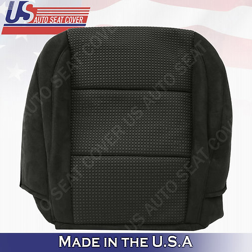 2007-2015 Nissan Armada Driver bottom Cloth in black seat cover