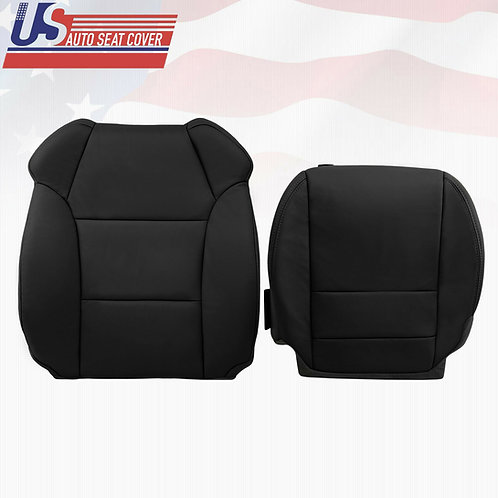 2007-2012 Acura MDX Base Model Driver Top/Bottom Leather Seat Cover Black