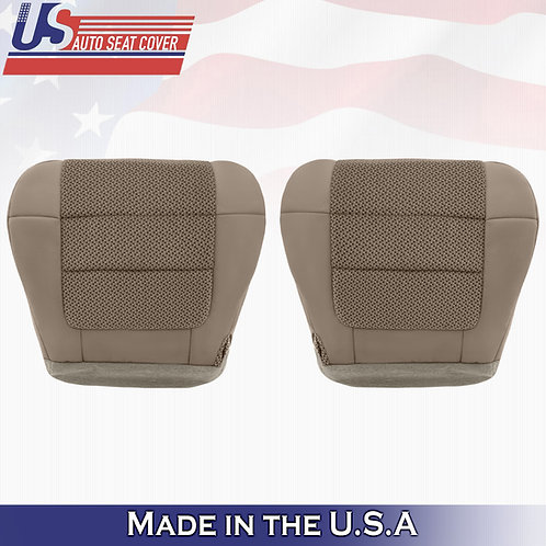 2001-2003 Ford F150 XLT DRIVER PASSENGER Bottom Cloth Cover Med. Parchment Tan