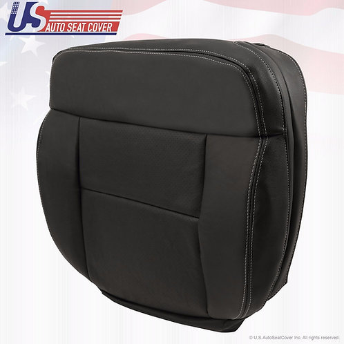 2004-2008 Ford F-150 FX4 XLT Passenger Bottom Leather Seat Cover Black perf.