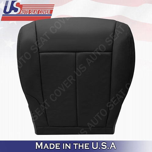 For 2007-2012 Nissan Altima Driver bottom leather seat cover Black