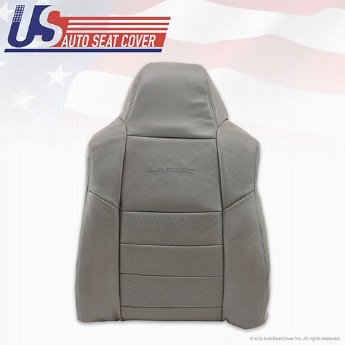 2002-2007 Ford F250 F350 Passenger Top Perforated Leather Cover gray