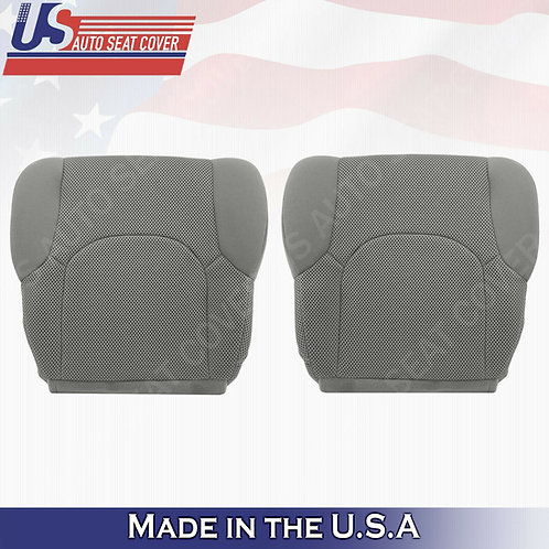 2005 -2019 Front Bottoms Gray Cloth Seat Covers FITS: Nissan Frontier S, SV, XE