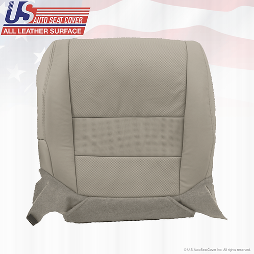 For 2004 - 2008 Acura TL Driver Bottom perforated Leather Seat Cover Gray