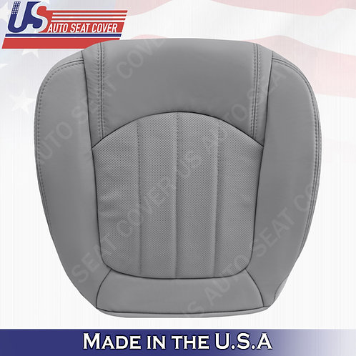 2008 -2012 Buick Enclave 1XL Passenger Bottom Perforated Leather Seat Cover Gray
