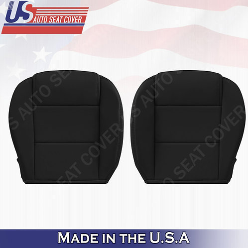 2005-2009 Ford Mustang V6 Driver & Passenger Bottoms Leather Seat Cover in Black