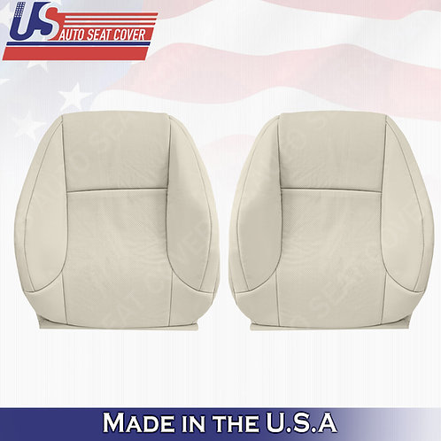 For 2010-2017 Lexus GX460 Driver & Passenger Top Perf. Leather Cover Light Tan