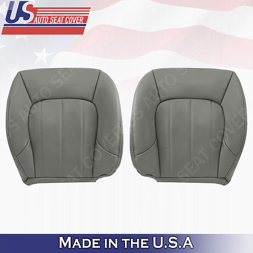 2002-2009 GMC Envoy SLT Driver & Passenger Bottom Leather Seat Cover Gray