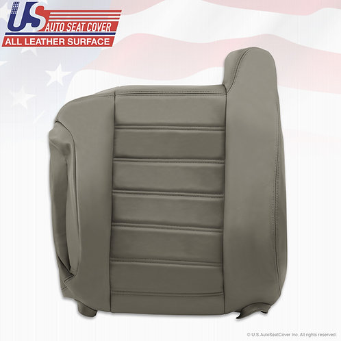 2003- 2007 Hummer H2 Driver Lean Back Leather Seat Cover Wheat Gray