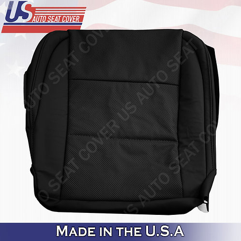 For 2013 to 2017 Lexus ES350 Driver Bottom Leather Perforated Seat Cover black