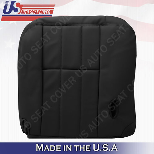 2003 to 2011 Mercury Grand Marquis Driver Bottom Leather Seat Cover Black