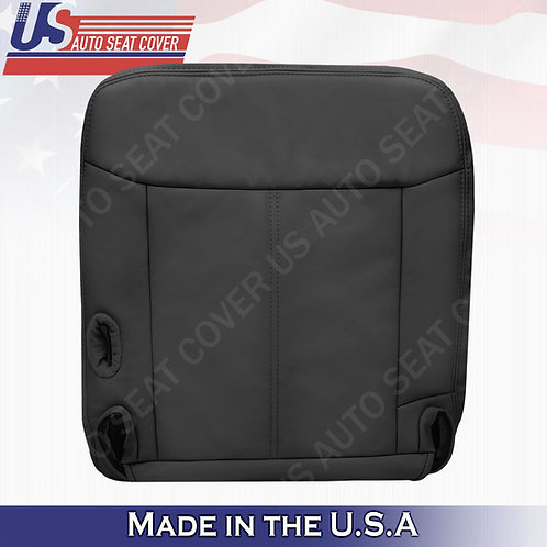 2003 - 2011 Lincoln Town Car Passenger Bottom Leather seat cover Black