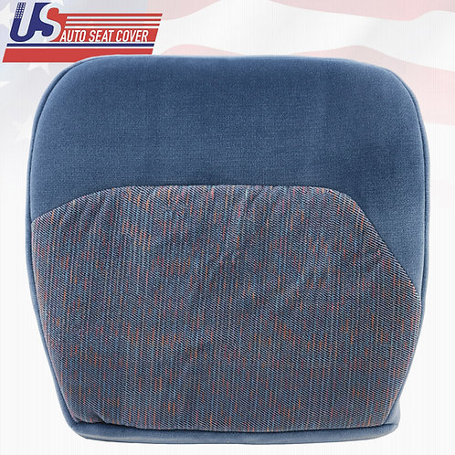 1994-1997 Ford F150 XLT Passenger Bottom Cloth Replacement Seat Cover In Blue