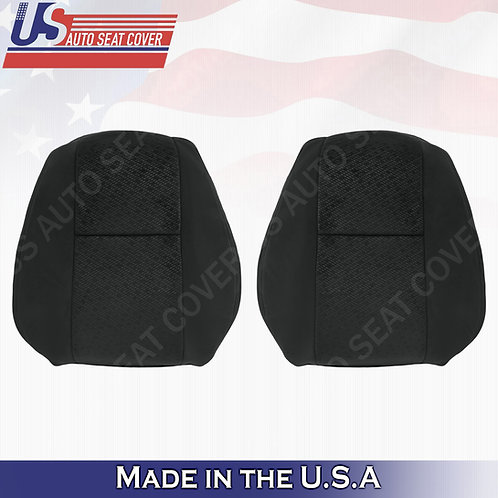2007 2008 Chevy Silverado Driver Passenger Top Cloth Seat Cover Black