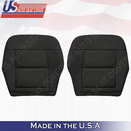 For 2010-2014 Mercedes Benz E350 Front Bottom Perf. leather Cover BLACK
