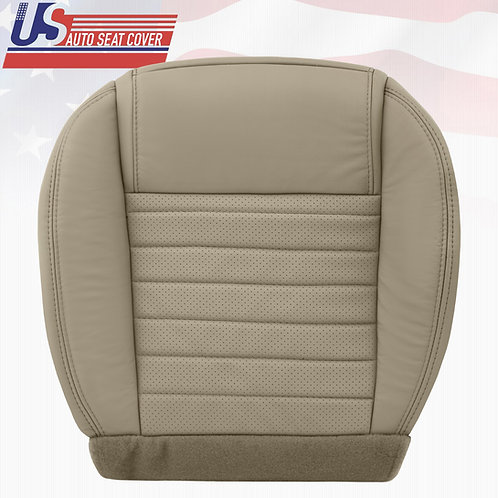 2005-2009 Ford Mustang Passenger Bottom Leather Seat Cover in Tan (PERFORATED)