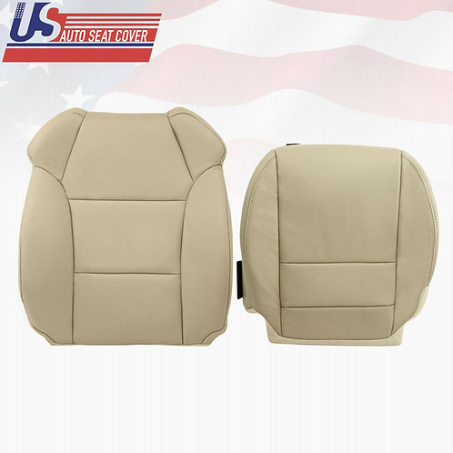 2007-2012 Acura MDX Driver top/bottom Leather Replacement Seat Cover in Tan