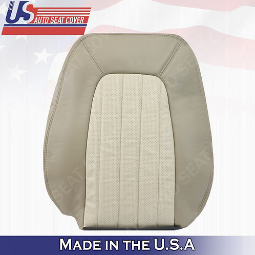 2002-2005 Mercury Mountaineer Driver Top Perforated Leather Cover 2-tone Tan