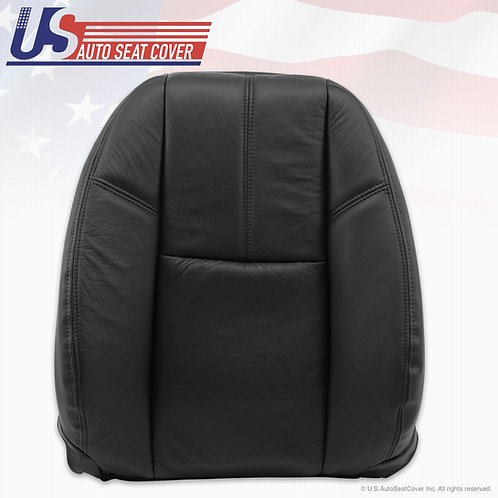 2007-2012 Chevy Driver Top Lean Back Leather Seat Cover Black