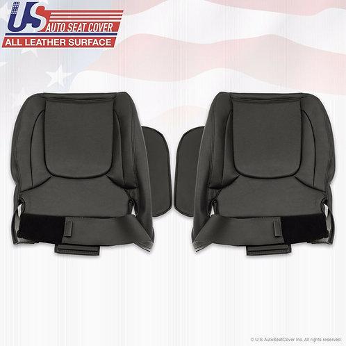 2003-2005 Dodge Ram 1500 Driver Passenger Bottom Leather seat cover in Black