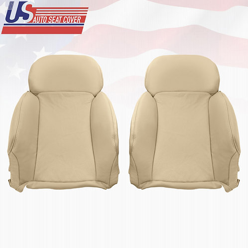 2006-2011 Lexus GS350 Driver & Passenger Top Perforated leather seat cover Tan